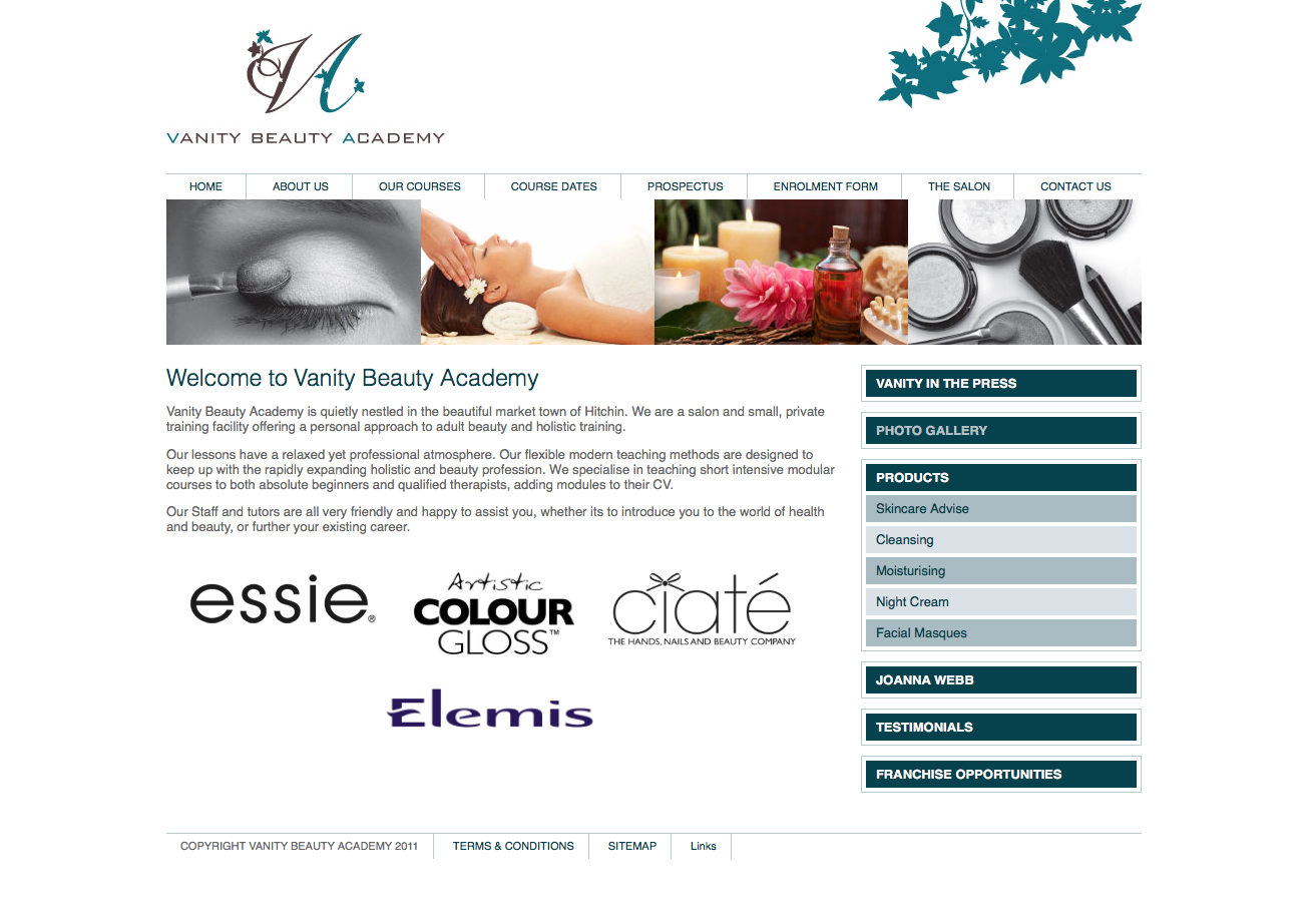 Web Design for a Beauty Academy
