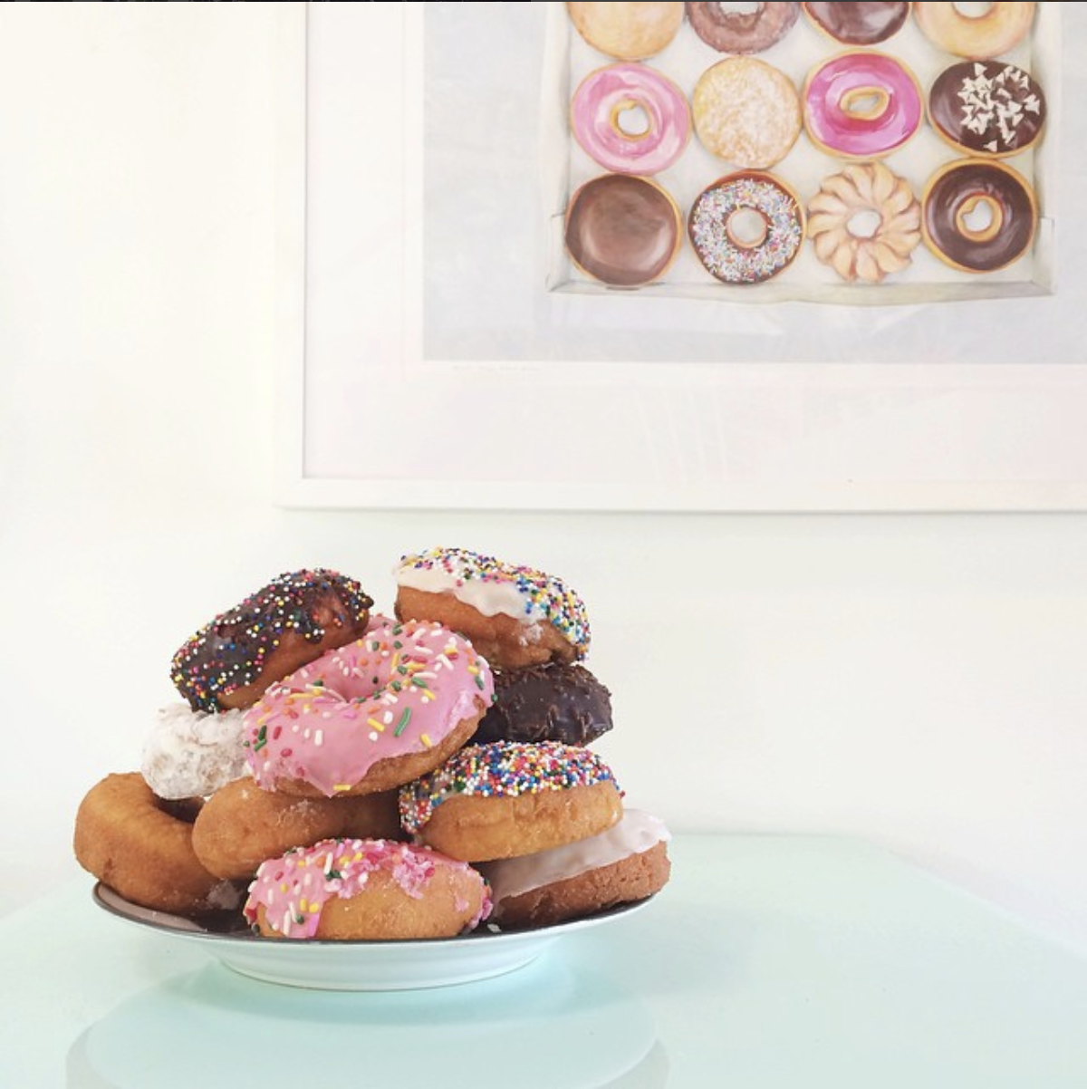 This photo of donuts was my most popular photo on  Instagram  in 2014. I took it with an iPhone.