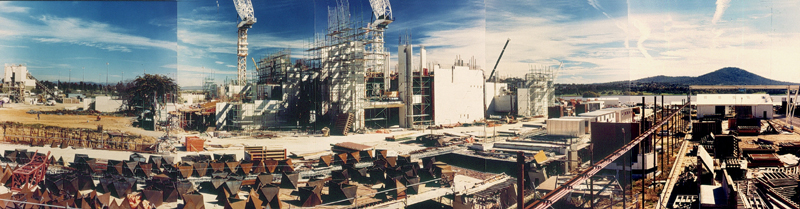 Panorama of the National Gallery of Australia in construction c.1978