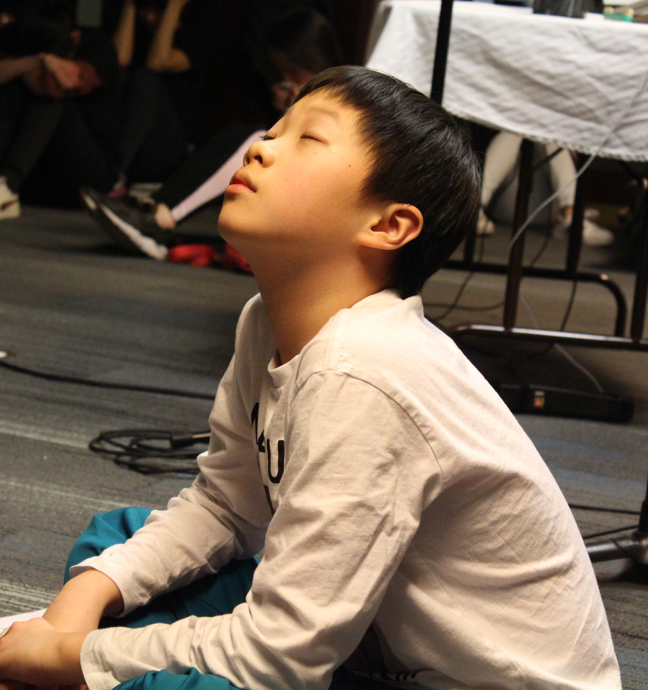 Thinking deeply at his first ever retreat