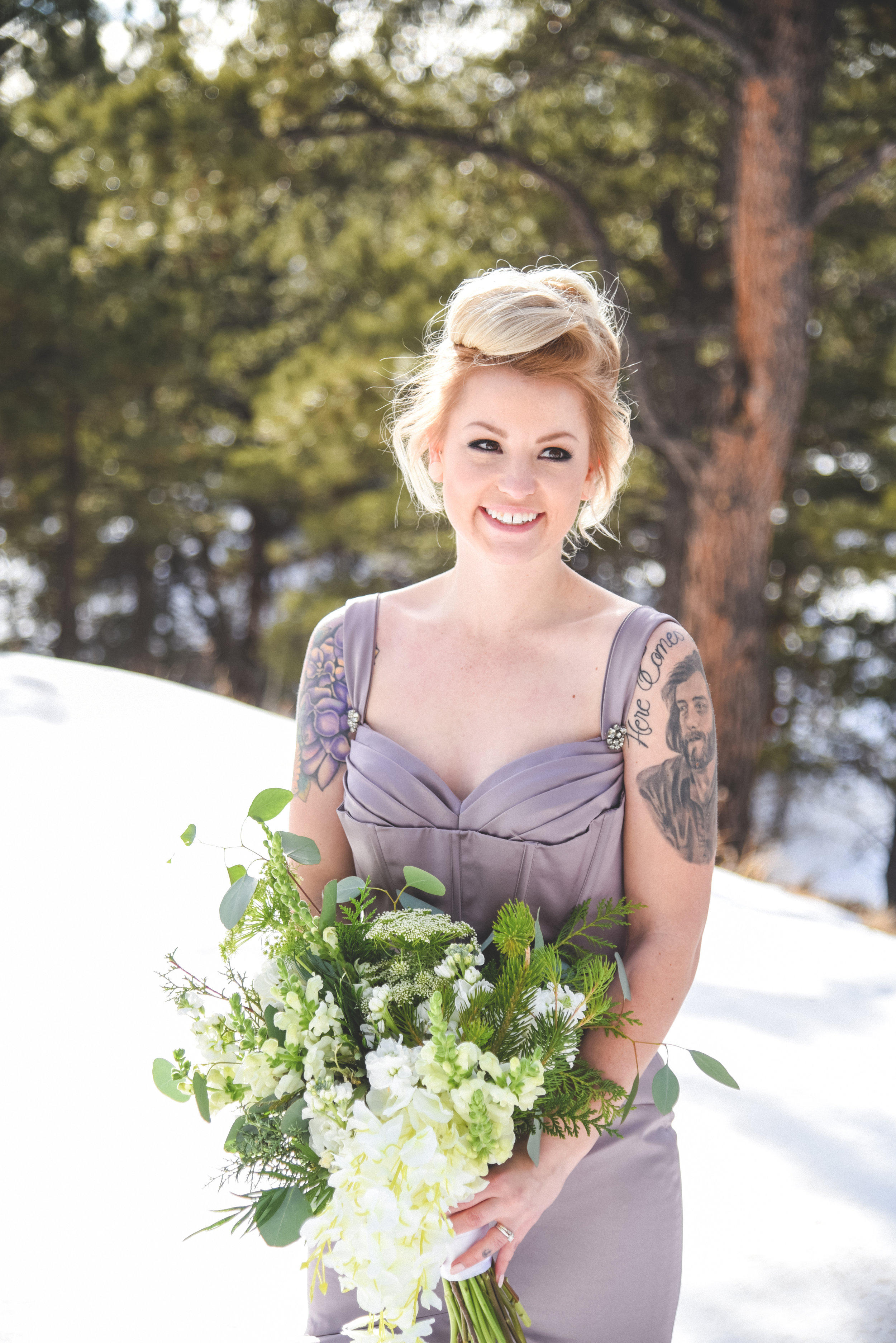 bride and groom portraits in the rocky mountains, alternative bride and groom in colorado, Mountain Wedding in Colorado, Colorado Wedding Photographer, Denver Wedding Photographer, Intimate Colorado Wedding Photographer, Rocky Mountain Wedding Photographer