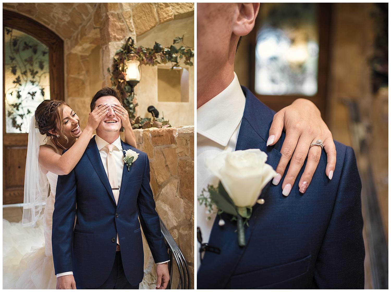 bride and groom first touch, Baldoria on the water wedding, Colorado wedding photographer, denver wedding photographer, intimate colorado wedding photographer, downtown denver wedding photographer,