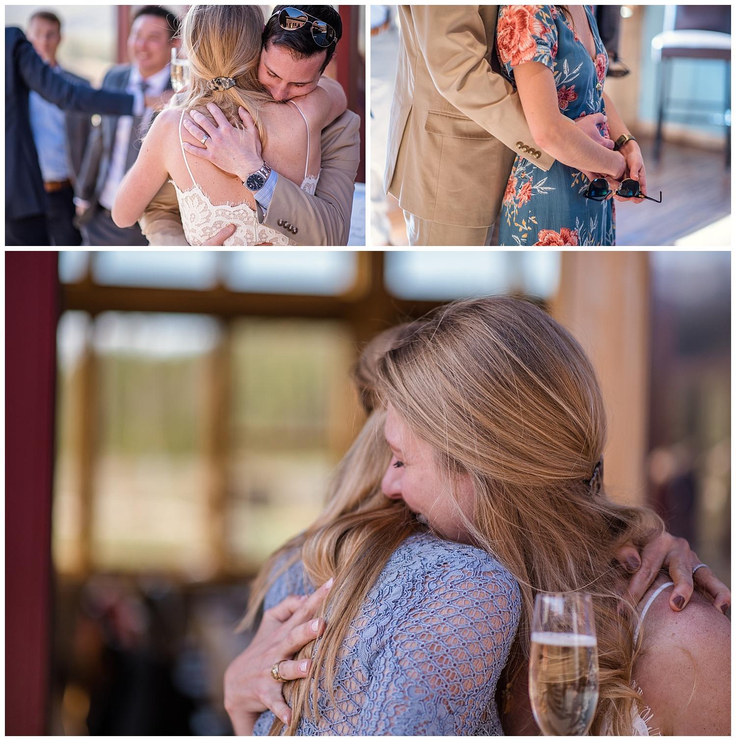 happy wedding guests in rocky mountain national park, colorado wedding photographer, denver wedding photographer, colorado elopement photographer, denver elopement photographer, rocky mountain photographer