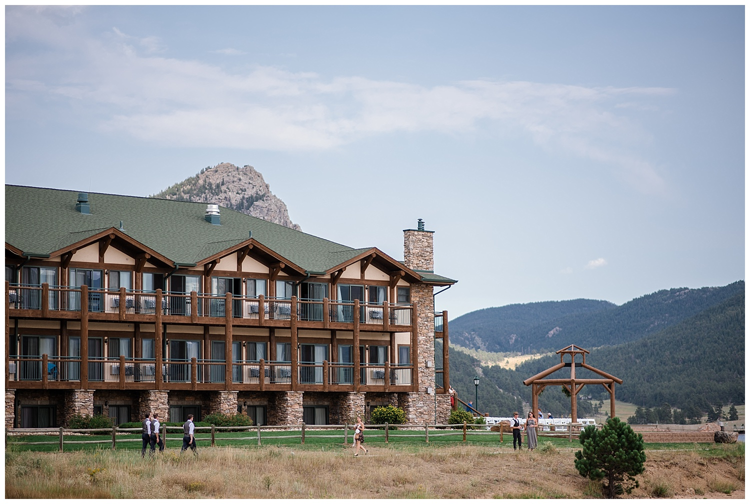 View of Estes Park Resort from outside, rocky mountain elopement photographer, rocky mountain wedding photographer, colorado wedding photographer, Estes Park wedding photographer