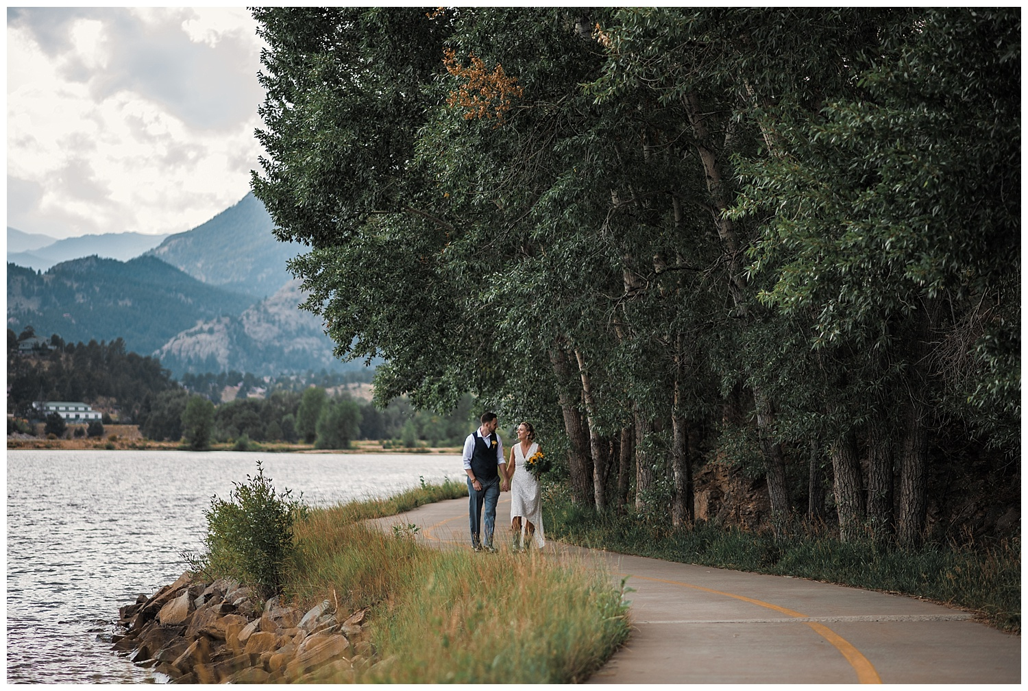 bride and groom portraits at estes park resort, rocky mountain elopement photographer, rocky mountain wedding photographer, colorado wedding photographer, Estes Park wedding photographer