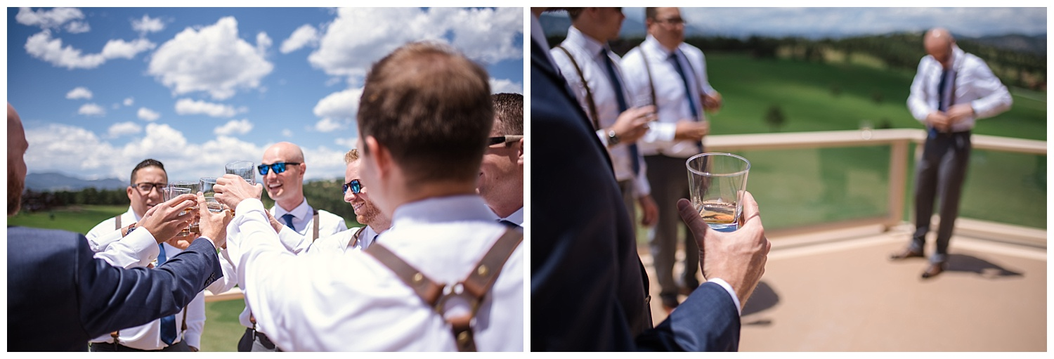 groomsmen and groom at Beaver Ranch in Conifer Colorado, Colorado Wedding Photographer, Rocky Mountain Wedding Photographer, Intimate Colorado Wedding Photographer
