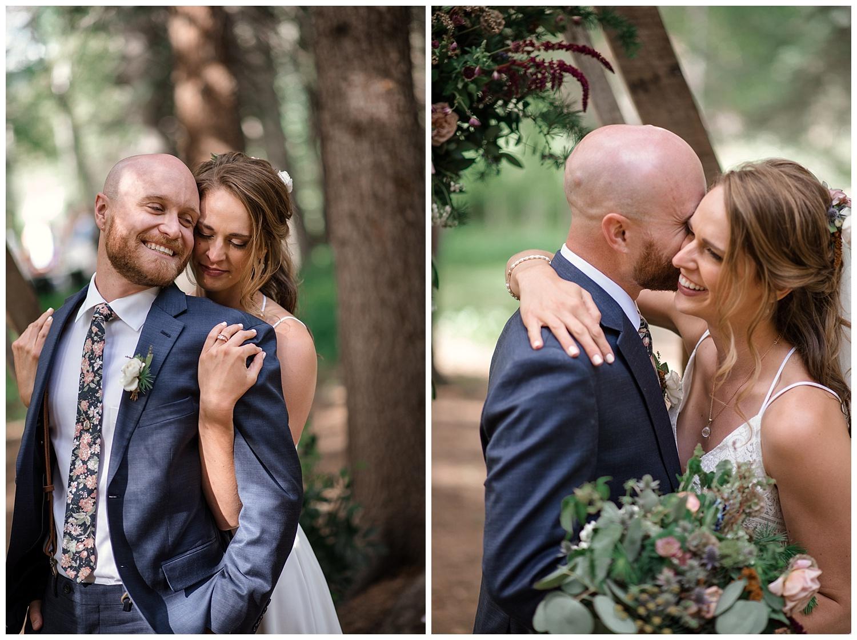 bride and groom portraits at Beaver Ranch in Conifer Colorado, Colorado Wedding Photographer, Rocky Mountain Wedding Photographer, Intimate Colorado Wedding Photographer