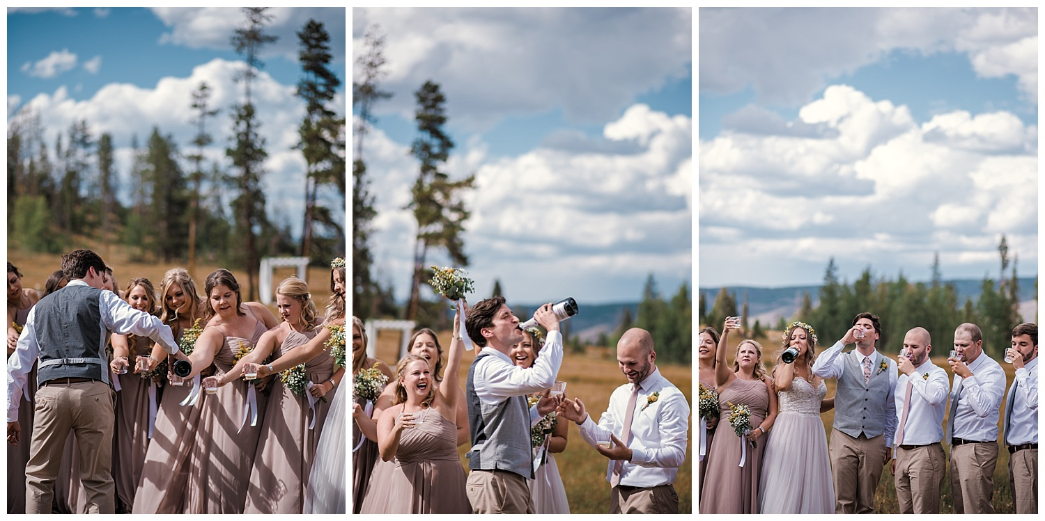wedding party portraits at B Lazy 2 Ranch, Ranch Wedding in Colorado, Colorado Wedding Photographer, Denver Wedding Photographer, Intimate Colorado Wedding Photographer, Rocky Mountain Wedding Photographer, Winter Park Wedding Photographer