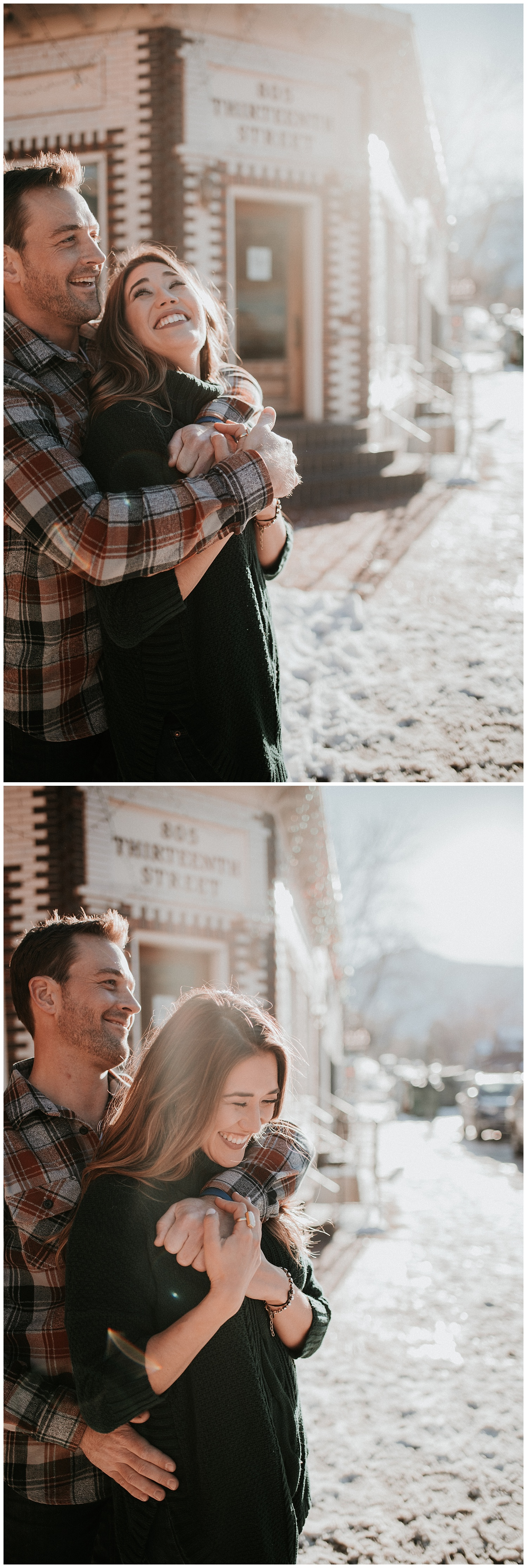 downtown golden engagement session, denver engagement photographer, golden engagement photographer, colorado engagement photographer, outdoor engagement photos denver, urban engagement photos denver, wedding photographer denver, colorado wedding photographer, dark and moody photographer denver