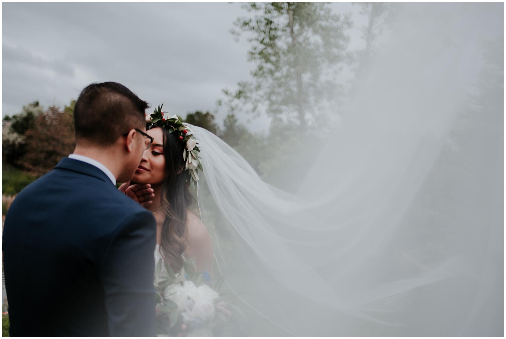 lakewood wedding, baldoria on the lake wedding, denver wedding photographer, colorado wedding photographer, denver videographer, colorado videographer, Vietnamese wedding, periwinkle blue wedding, floral crown