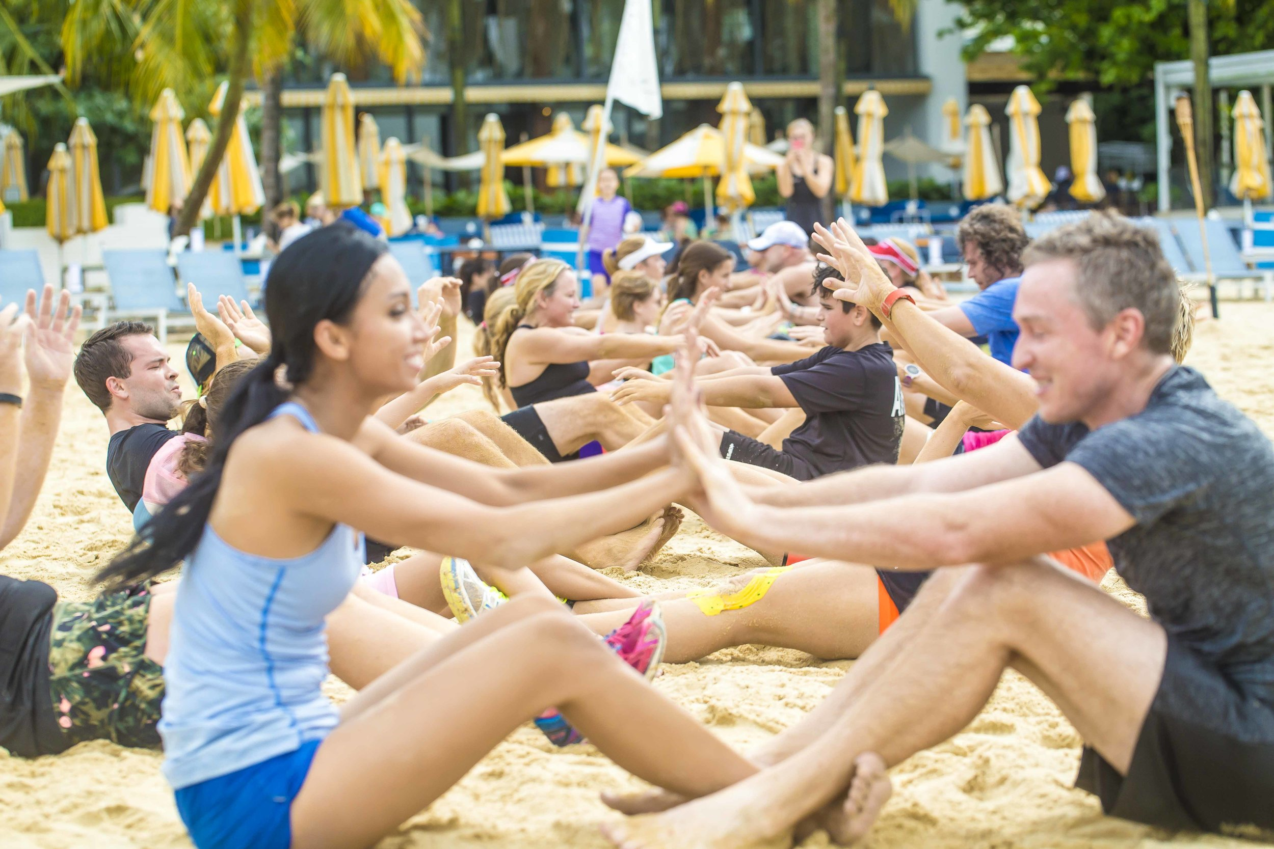 Tanjong Beach Bootcamp   Join the fitness revolution at Tanjong Beach every Sunday morning! Workout with a great view right on one of the most beautiful beaches on the island, and chill out at the beach bar after. Family, friends, and pets welcomed!    Read more →