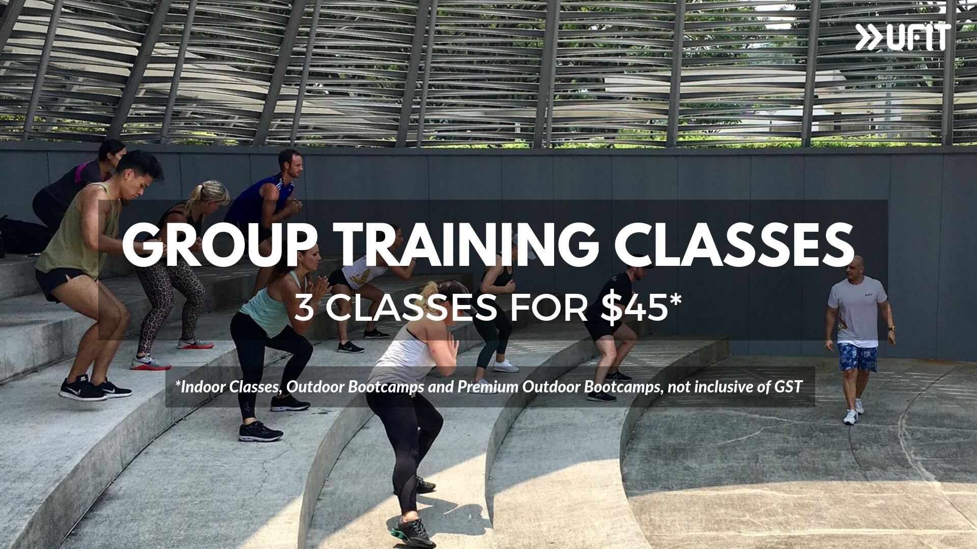 3 for $45 group training classes