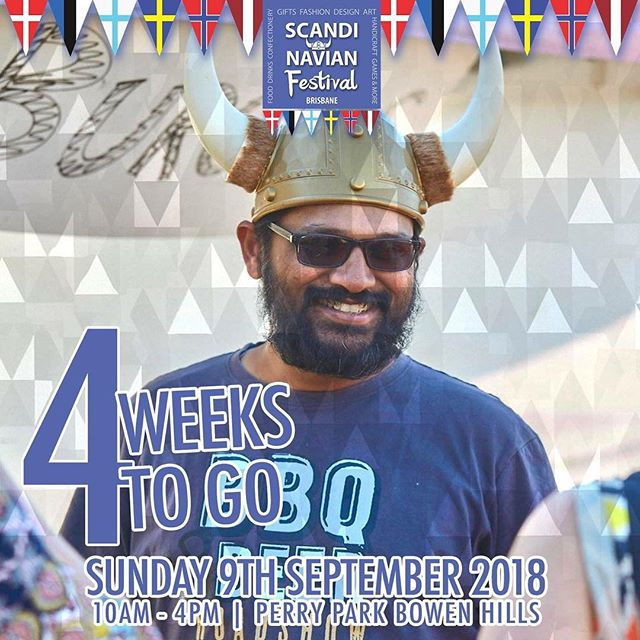 Four weeks to go everyone! We hope you're as excited as we are! . . . #scandinavian #festival #scandinavianfestival #brisbane #queensland #stalls #denmark #norway #sweden #finland #iceland #scandifest #food #drinks #scandinavianfestivalbrisbane #fun #familyfriendly