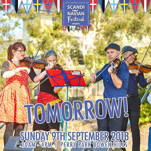 TOMORROW IS THE DAY! The Scandinavian Festival 2018 has almost arrived!  Details: Address: Perry Park, Bowen Hills Parking: Very limited street parking, Bowen Hills train station is within walking distance so we recommend public transport  Cost: $2, kids under 12 free Time: 10am-4pm  We are so excited to see everyone tomorrow!  #scandinavian #festival #scandinavianfestival #brisbane #queensland #stalls #denmark #norway #sweden #finland #iceland #scandifest #food #drinks #scandinavianfestivalbrisbane #fun #familyfriendly