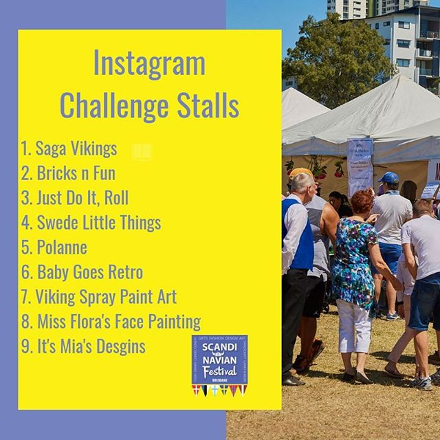 Today is the day!! Come see us at Perry Park from ten until four this afternoon! Here is our list of stalls for our Instagram challenge! Make sure you get a picture with every stall and tag #scandifest18 to go into the draw to win an awesome prize!