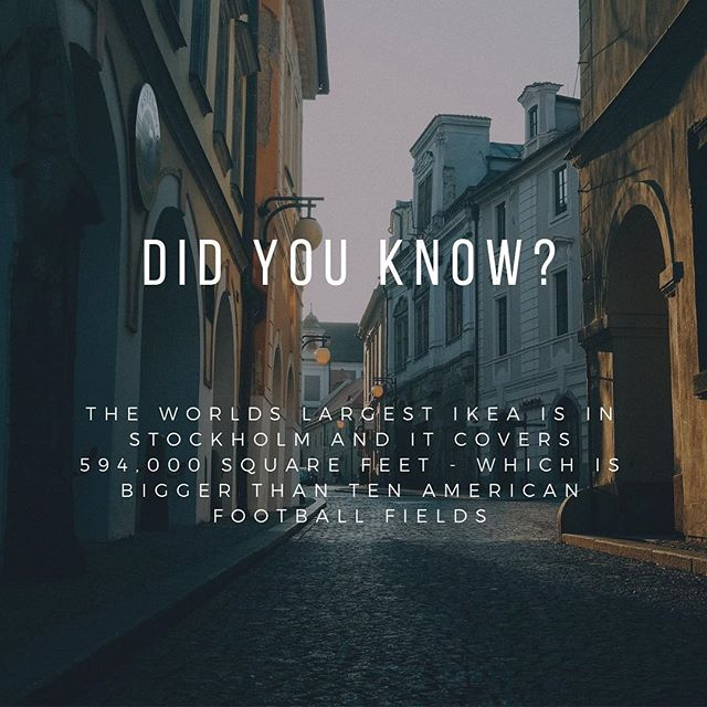 Here's a fun fact to start your week! . . . . . . #ikea #scandifest18 #culturalfestival #brisbane #brisbanefestival #fortitudevalley #scandinavia