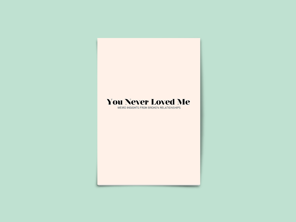 You Never Loved Me (2014)  Zine, 10 pages, Digital