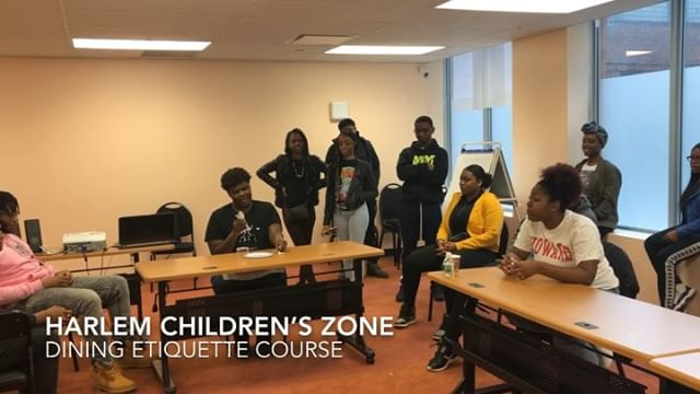 College students of @harlemchildrenszone took my dining etiquette course, and presented what they learned.  They also had workshops on internship readiness, communication skills, financial literacy, and several other concepts during a two-day PD event. Dining etiquette won 😎! #etiquette #harlem #harlemchildrenszone