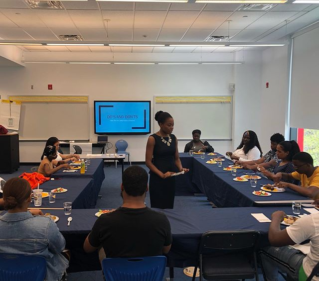 Second trip to @harlemchildrenszone. More Dining Etiquette for the second group of college students.  #harlemchildrenszone #diningetiquette #collegestudents #softskills