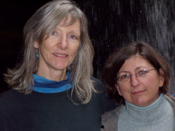 Janice Barrett of Wild South and Present Tense Executive Producer Anne Markham Bailey in the Bankhead National Forest.