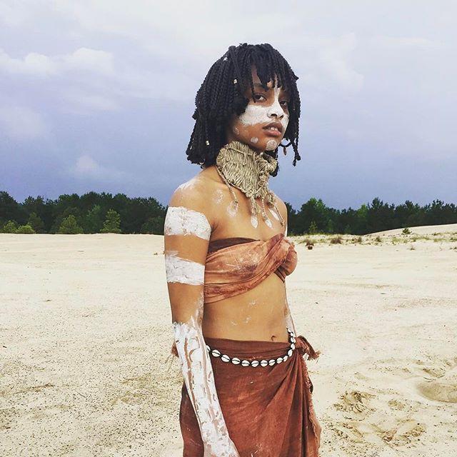 @brookehahli  on the first day of Native -- June 2016⠀ ⠀ ⠀ #nativethefilm #louisiana  #filmlouisiana #filmla #redepicdragon #filmtexas #houstonfilm #shortfilm #thriller #mtv #redepic #shreveport #lafilmprize #film #feature #lafilmprize #houston #tribal #sand #desert #texasfilm