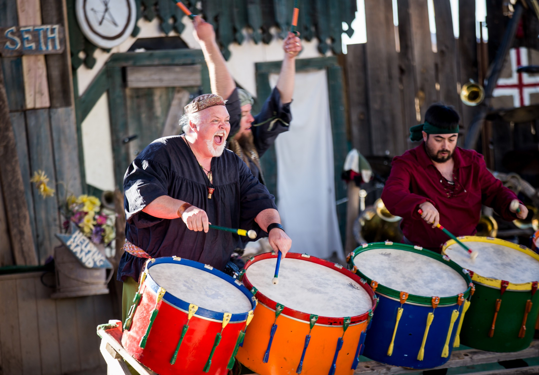 Drummers at the 2016 Arizona Renaissance Festival