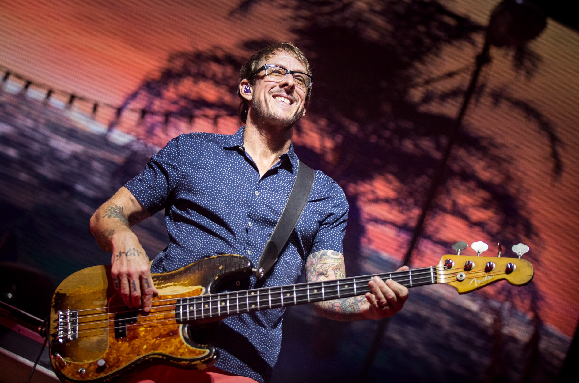 Scott Shriner of Weezer: Photo by Melissa Fossum
