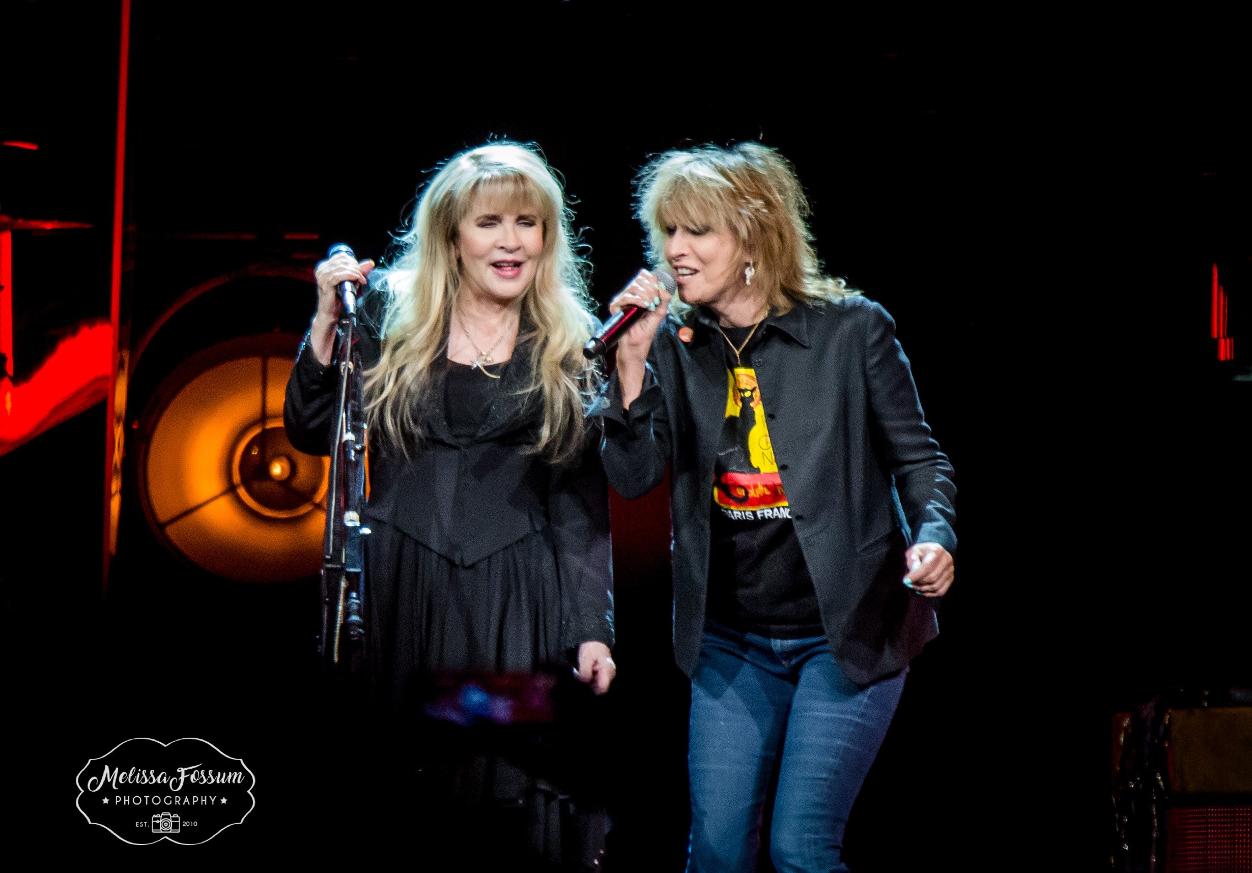 Stevie Nicks and Chrissie Hynde: Photo by Melissa Fossum