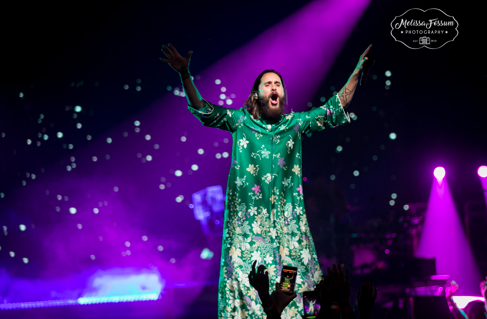 Jared Leto takes it all in during the tour finale.
