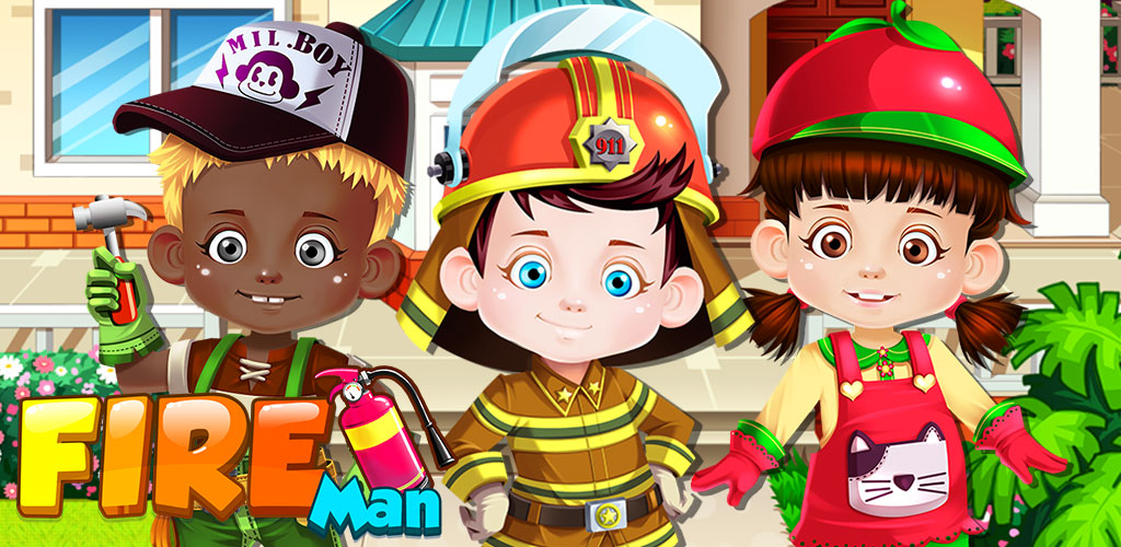 Fireman - Fire House Heroes!  The house is on FIRE! LIVES ARE ON THE LINE!!! We need you IMMEDIATELY!!!