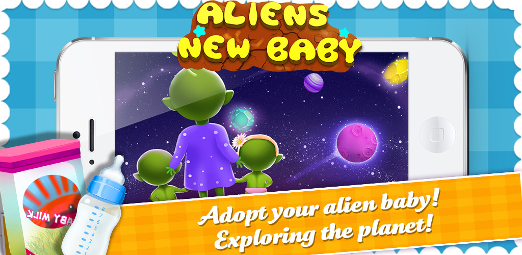 Mommys Cute Newborn Alien Baby  Ready for some out of this world fun? Want to help mommies take care of babies, no matter where in the galaxy they come from?