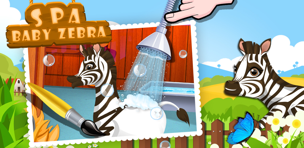 Baby Zebra SPA Salon Makeover  Have you ever wanted to own your own pet animal? Something cute and cuddly like, say, a baby zebra?!