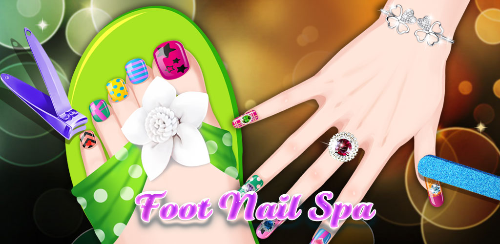 Nail & Foot Salon  Design the cutest toes! Foot Nail Spa takes you into the day spa where you can treat feet to make them feel soft and new and clean.