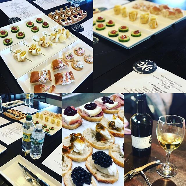 Just a few samples of today's Cedar Creek Wedding Tasting !  Hot courses to follow ! Free Wedding Tastings . Tell your engaged friends!