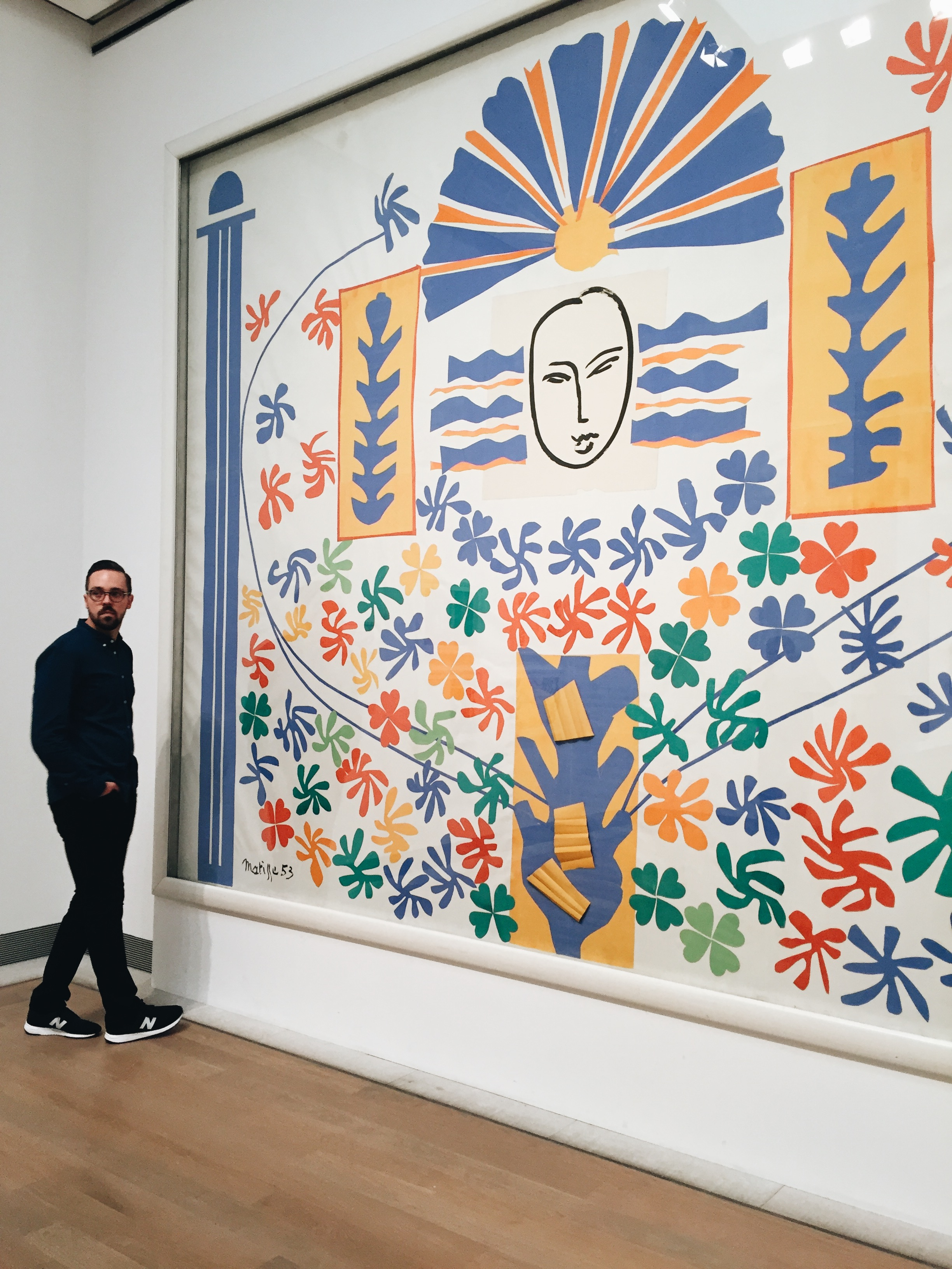 I was so excited to see this Matisse piece in real life. Clearly I'm not an art expert because it was way bigger than I'd anticipated.