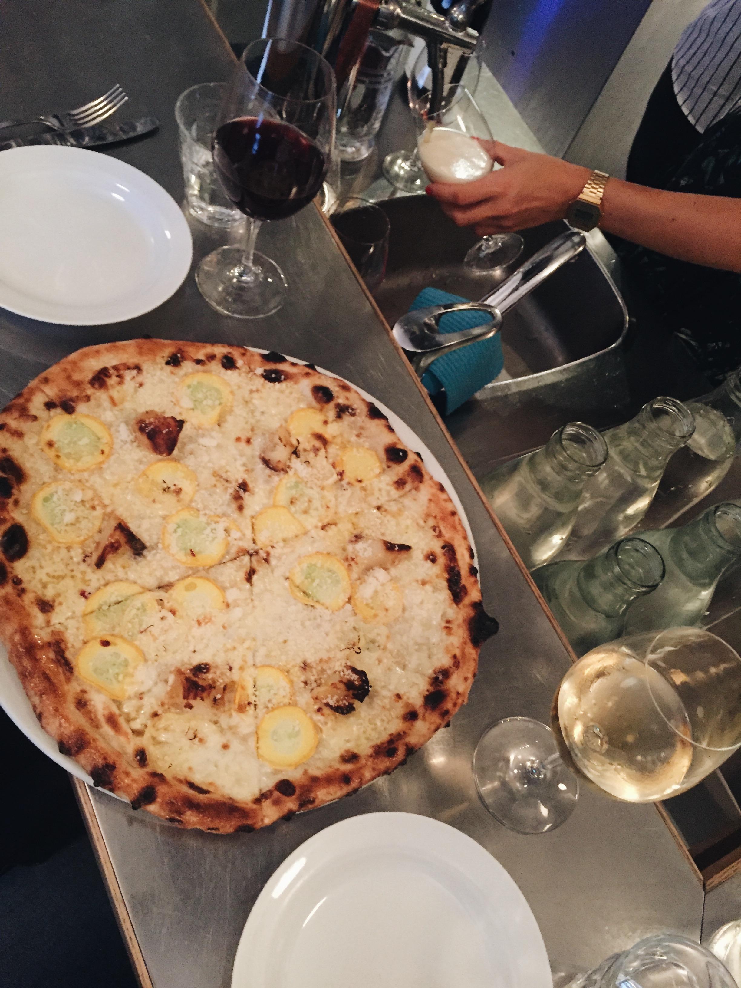 Pizza at Babette.