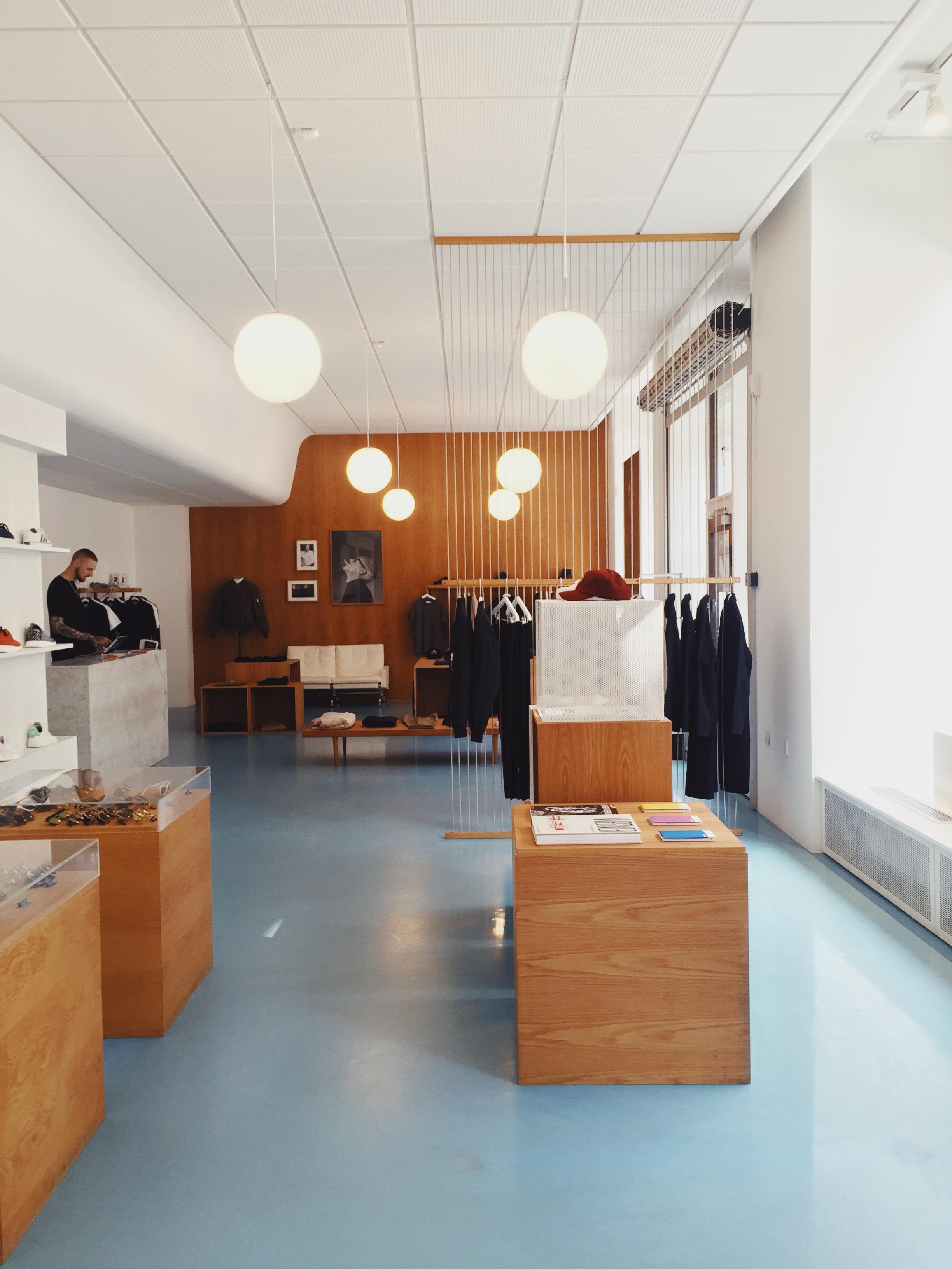 Han Kjøbenhavn, a streetwear men's shop.