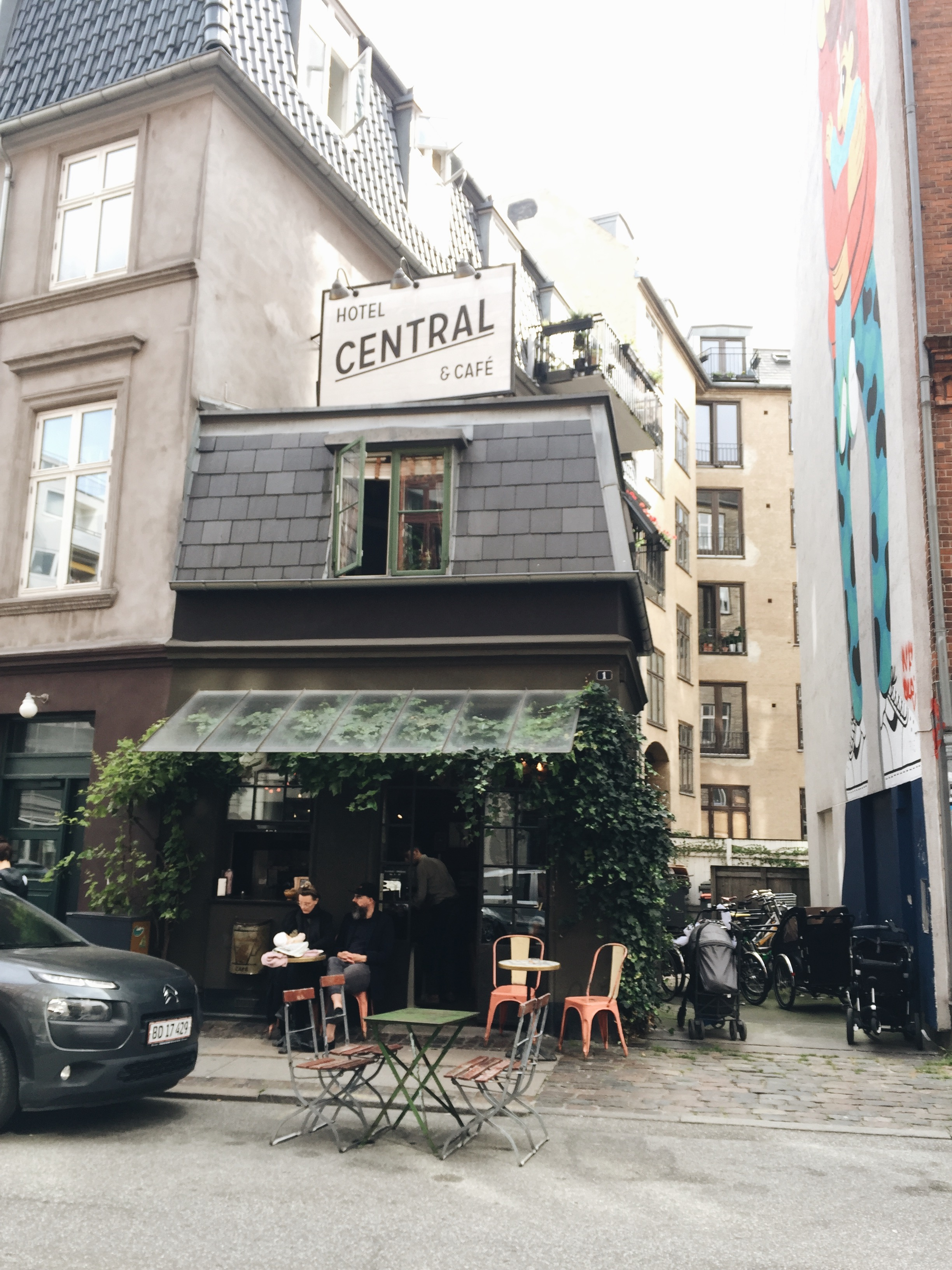 Central cafe has a 1-room hotel, but definitely worth checking out for brunch and coffee.