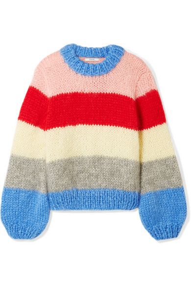 """Ganni sweater via Net-a-porter.  I'm becoming increasingly obsessed with Ganni and love that this piece allows the warmth of a sweater without the feeling of """"shit I have to wear another sweater and it's April""""."""