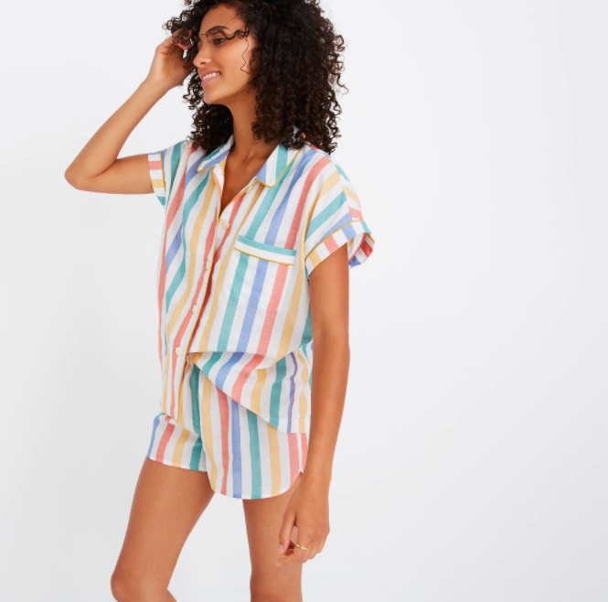 Madewell pajama set . I did some spring cleaning last weekend and realized most of my pajama shorts have lost their elasticity or are completely threadbare (v chic).