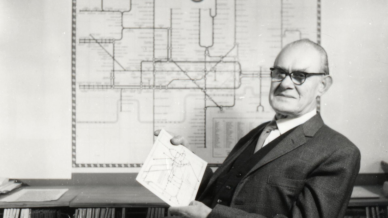 Harry Beck,圖片出處:http://www.theverge.com/2013/3/29/4160028/harry-beck-designer-of-iconic-london-underground-map