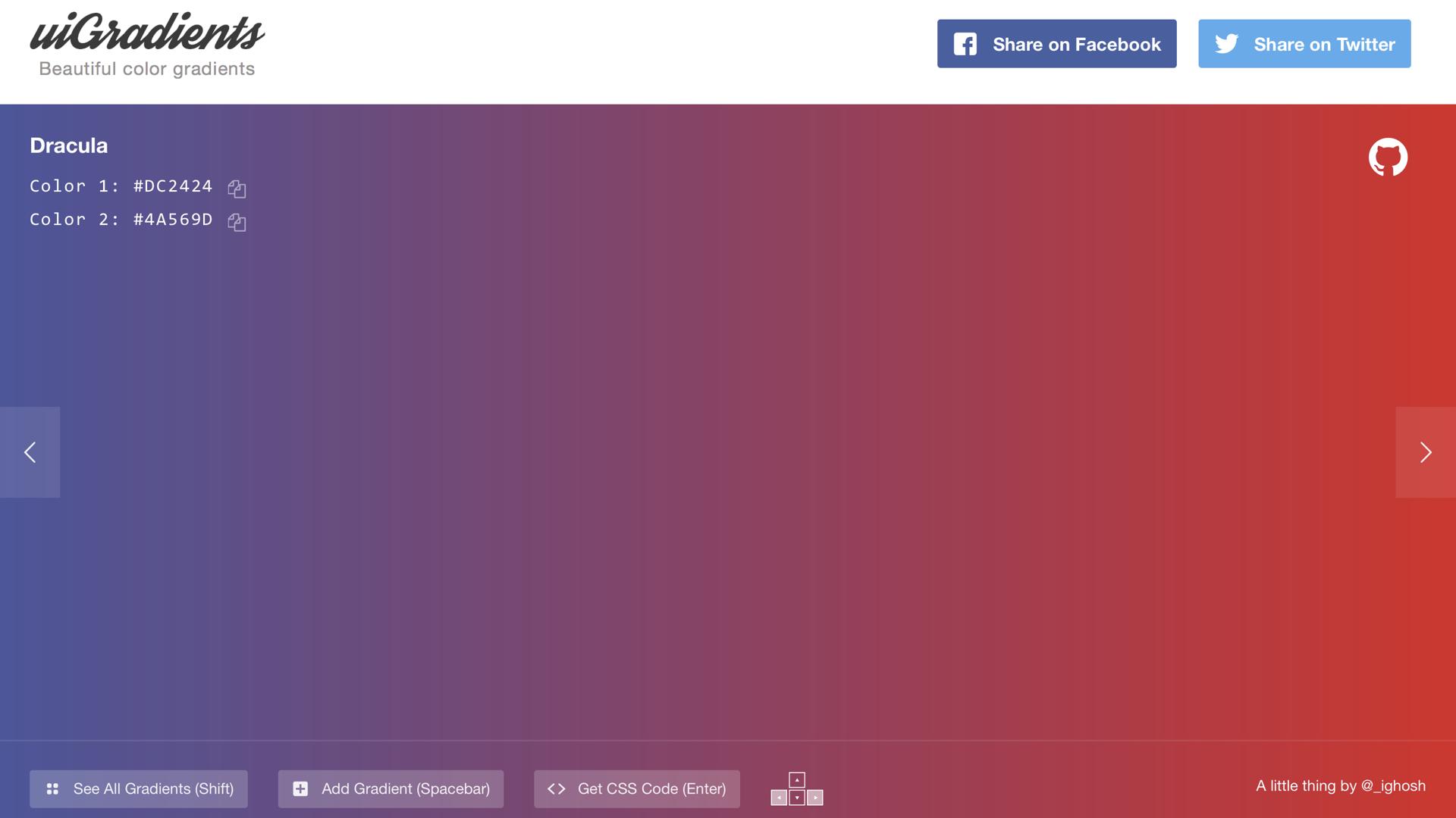 uiGradients   收集近百款漸層背景配色主題,使用情境多元,推薦私藏