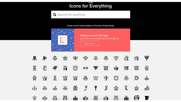 Noun Project   一定會讓你滿意又驚喜的 icon 網站,以黑白為主,種類包羅萬象
