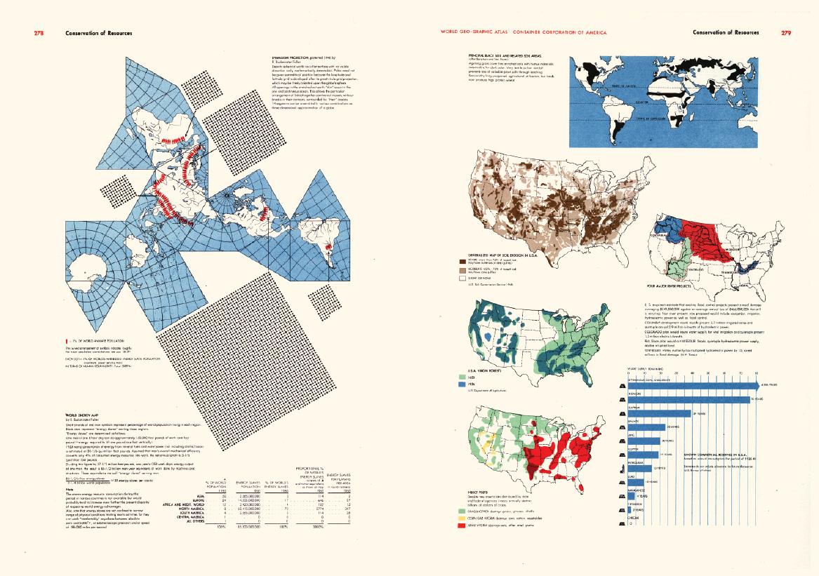 貝爾在《圖解世界地理圖鑑》中透過訊息圖表說明各種資訊。