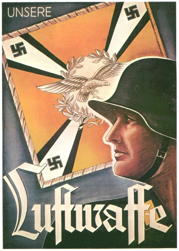 Fraktur經常被使用在德國納粹的文宣裡。圖片來源: Nazi propaganda