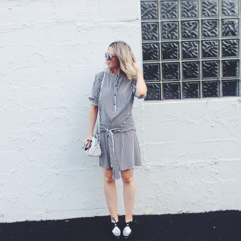 Dress: Viktoria & Woods, Toscani; Bag/ Shoes: Mimco; Sunglasses: Mura Boutique