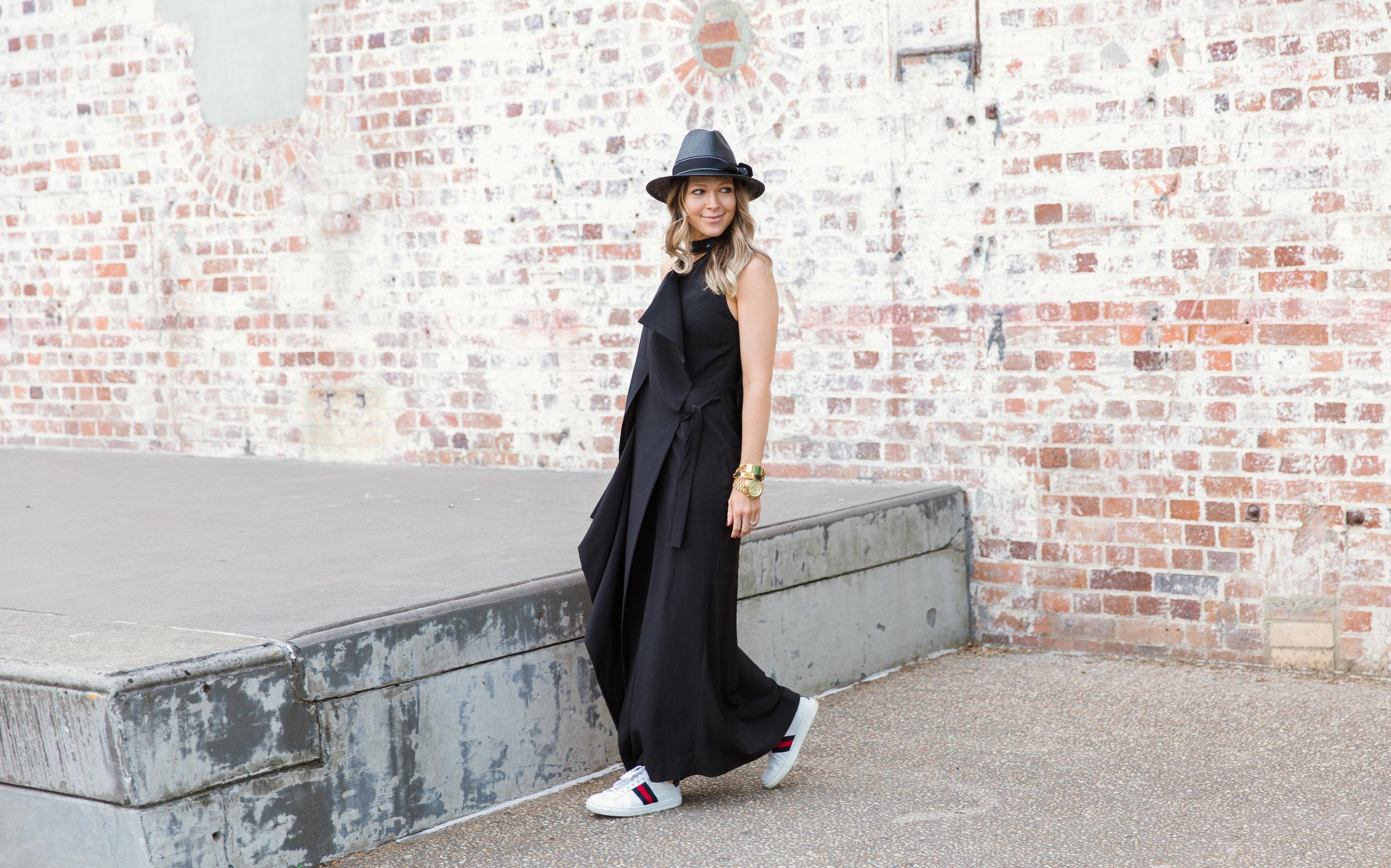 The Birdcage Dress in Black. Shot by Sophia Aarons.