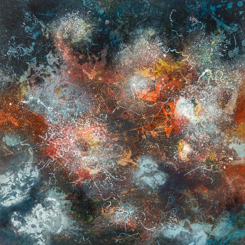 Dark Fusion, oil on canvas, 76 x 76 cm