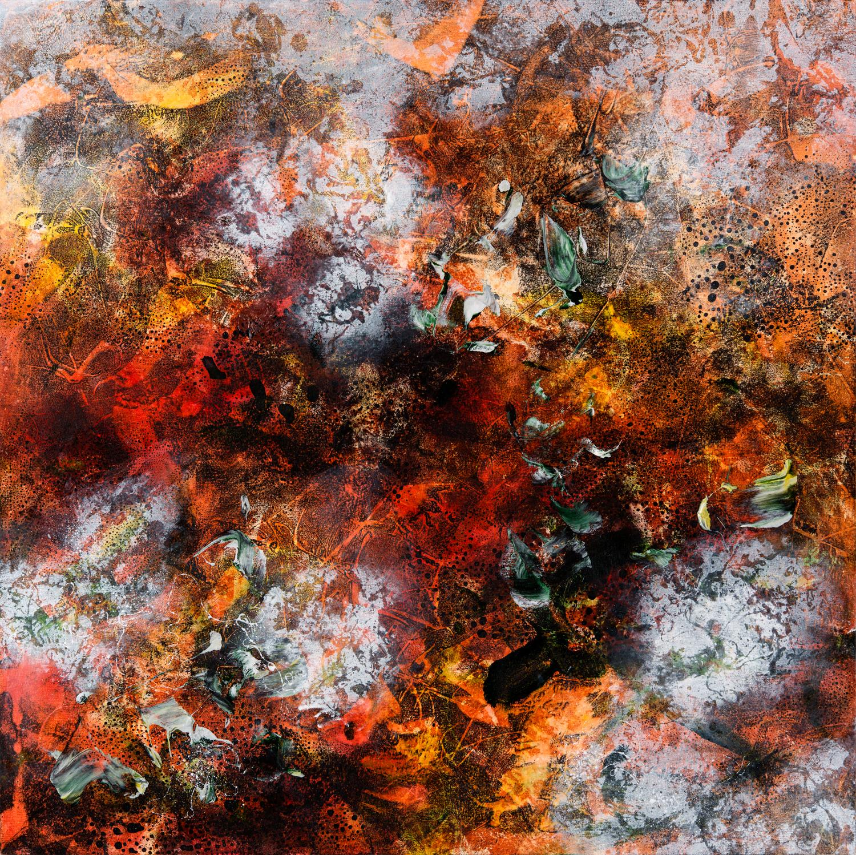 Primal Matter IV, oil on canvas, 102 x 102 cm, SOLD