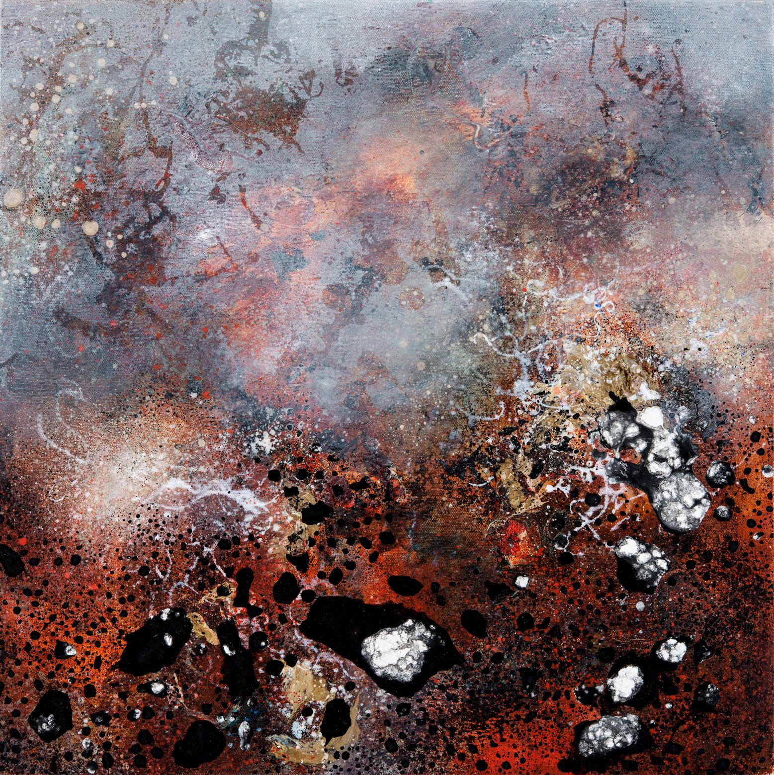 Reisdue, oil on canvas, 47 x 47 cm
